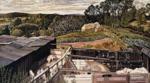 Rickett's Farm, Cookham Dene, Stanley Spencer