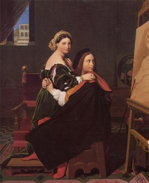 Raphael and the Fornarina, Jean-Auguste-Dominique Ingres