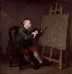 Hogarth Painting the Comic Muse, William Hogarth