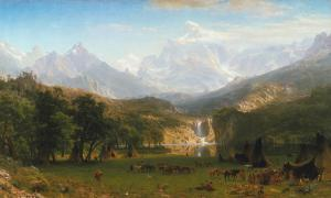 The Rocky Mountains, Lander's Peak, Albert Bierstadt