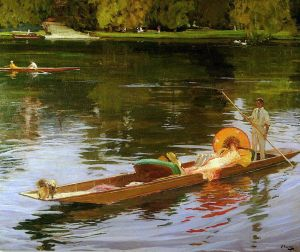 Boating on the Thames, John Lavery