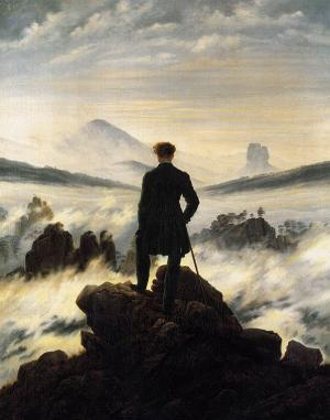 Wanderer above the mists, Caspar David Friedrich
