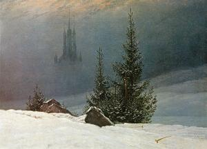 Winter Landscape with church, Caspar David Friedrich