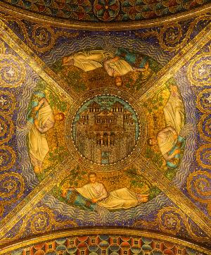 Ceiling of the Cathedral of Aachen, Germany