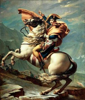 Napoleon Crossing the Alps, Jacques-Louis David
