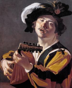 The Lute player, Dirck van Baburen
