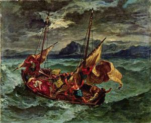 Christ on the Sea of Galilee, Delacroix