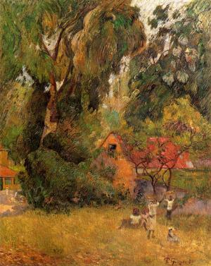 Huts under the Trees, Paul Gauguin