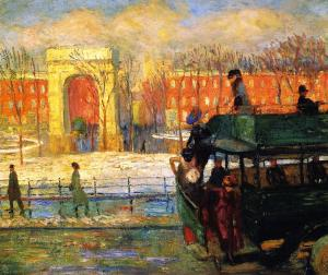 Descending from the Bus, William Glackens