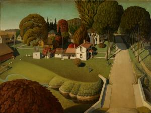 The Birthplace of Herbert Hoover, Grant Wood