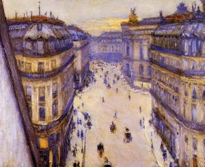 Rue Halévy, From the 6th Floor, Gustave Caillebotte