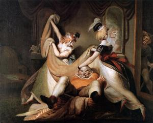 Falstaff in laundry basket, Henry Fuseli
