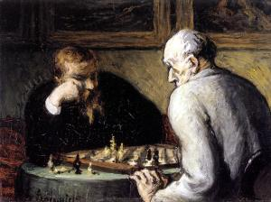 The Chess Players, Honoré Daumier