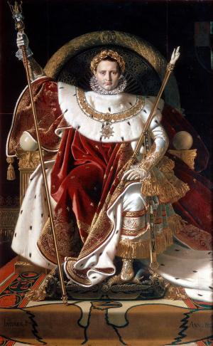 Napoleon on his Imperial throne, Ingres