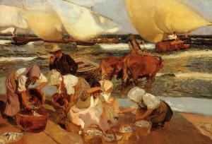 Beach at Valencia, Joaquín Sorolla