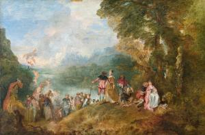 The Embarkation for Cythera, Watteau