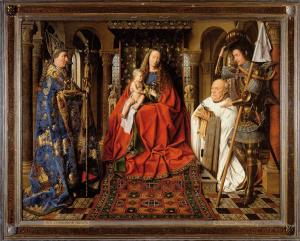 Virgin and Child with Canon van der Paele, Jan van Eyck
