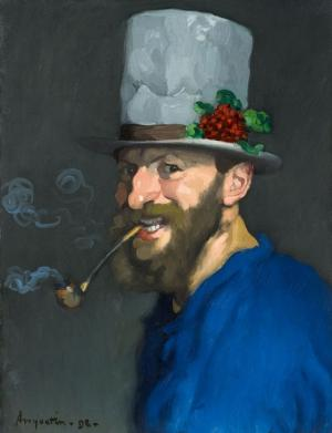 Self-Portrait with Pipe, Louis Anquetin