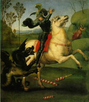 Saint George Struggling with the Dragon, Raphael