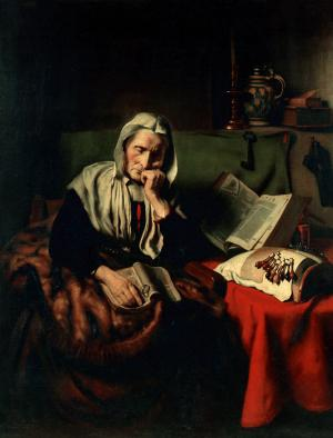 Old Woman Dozing, Nicolaes Maes