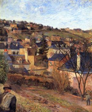Blue roofs of Rouen, Paul Gauguin