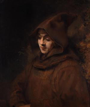 Titus as a monk, Rembrandt