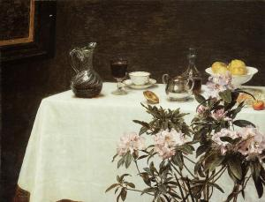 Still Life, Corner of a Table, Henri Fantin-Latour