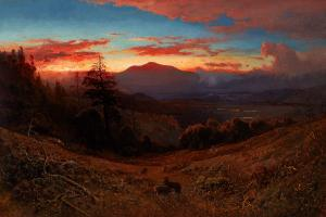 Sunset on Mount Diablo, William Keith