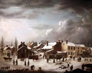 Winter Scene in Brooklyn, Francis Guy