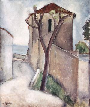 Tree and houses, Amedeo Modigliani